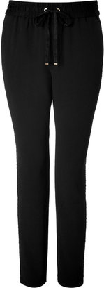 Juicy Couture Sequin Track Pants in Black