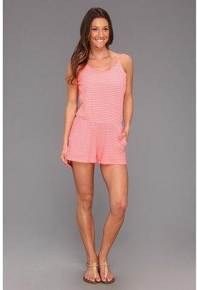 Roxy Romp Roll Dress (Watermelon Stripe) - Apparel