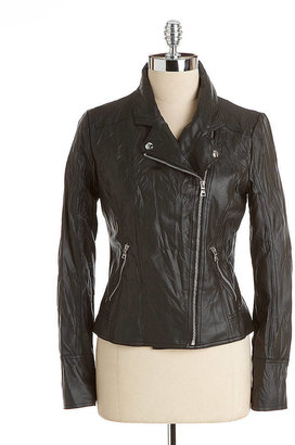 GUESS Faux-Leather Motorcycle Jacket