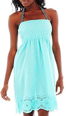 JCPenney Embroidered Cover-Up Tube Dress or Swim Separates