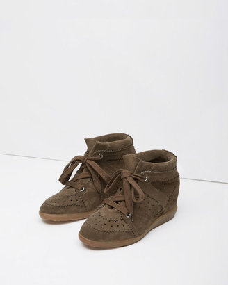 Isabel Marant Bobby Low-Top Sneaker $695 thestylecure.com