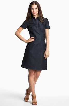 Lafayette 148 New York 'True Blue' Denim Dress