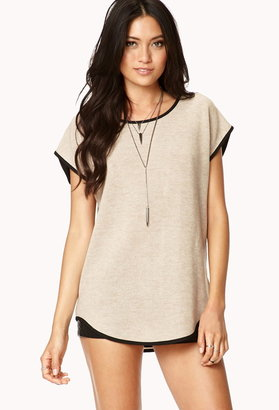 Forever 21 Cozy Contrast Top