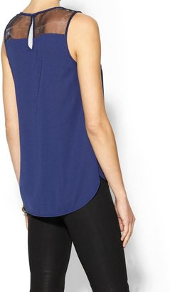BCBGMAXAZRIA Wells Grace Layla Sheer Blouse