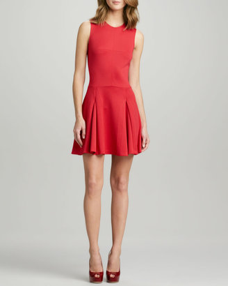 Ali Ro Fit-and-Flare Ponte Dress