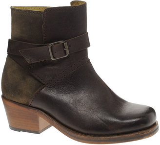 Hudson H By H by Daytona Brown Buckle Heeled Ankle Boots - Brown