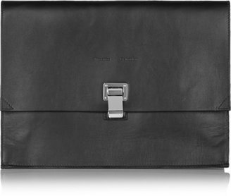 Proenza Schouler - The Lunch Bag Large Leather Clutch - Black $935 thestylecure.com