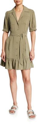 Paige Mayslie Short-Sleeve Utility Dress