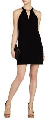 BCBGMAXAZRIA Kiley Tuxedo Stripe Halter Dress