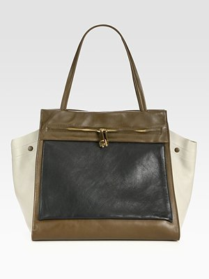 Saks Fifth Avenue Furla Exclusively for Equestre Colorblock Shopper