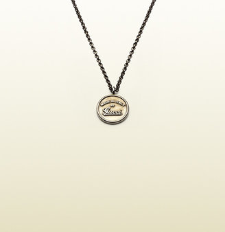 Gucci Necklace With Vintage Trademark Embossed Pendant