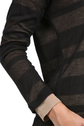 Splendid Shadow Striped Tee in Black