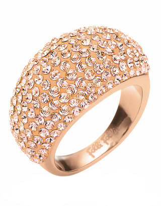 Folli Follie Match & Dazzle Champagne Stone Rose Gold Ring