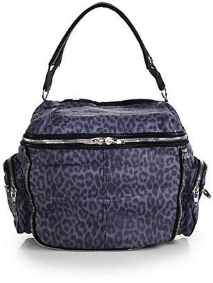Alexander Wang Jane Leopard-Print Zip-Around Camera Bag