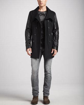 Diesel Thavar Jeans with Slight-Abrasion, Gray