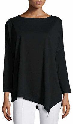 Joan Vass Oversized Asymmetric Cotton Top