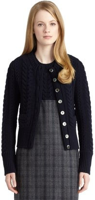 Brooks Brothers Cable Knit Cardigan