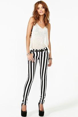 Nasty Gal Tripp NYC Striped Skinny Jeans