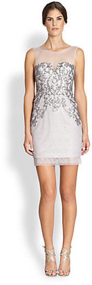 BCBGMAXAZRIA Abigail Sequined Cocktail Dress