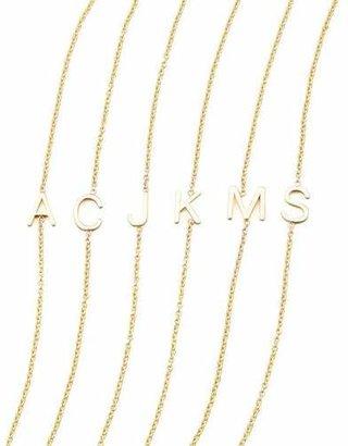 Maya Brenner Designs 14k Yellow Gold Letter Bracelet $200 thestylecure.com