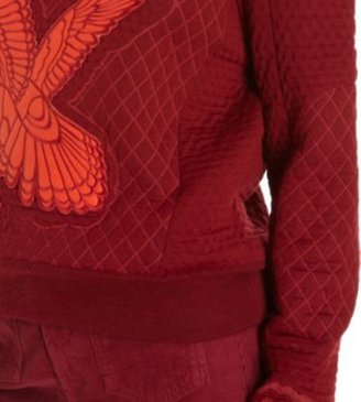 Stella McCartney Diamond Quilted Eagle Embroidered Sweater