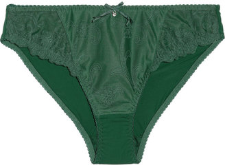 Rigby & Peller Embroidered tulle briefs
