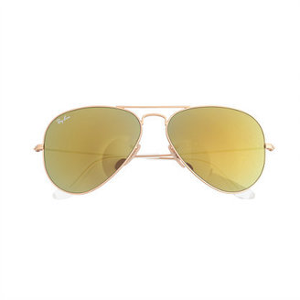 Ray-Ban aviator sunglasses with mirror lenses