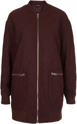Topshop Quilted Bomber Coat