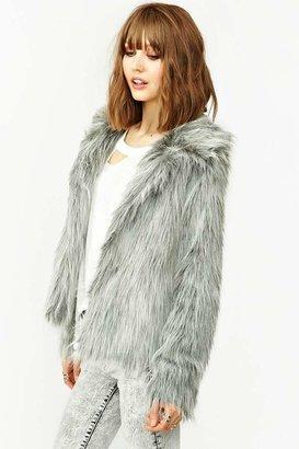 Nasty Gal UNIF Glam Faux Fur Coat