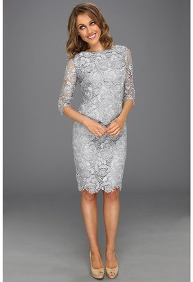 Eliza J 3/4 Sleeve Lace Sheath Dress