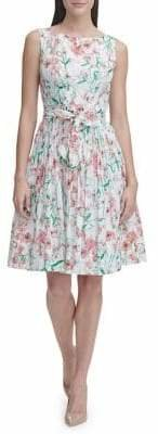 Tommy Hilfiger Kenwood Floral Cotton Fit Flare Dress