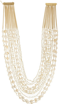 Rosantica Gold-Dipped Freshwater Pearl Multi-Strand Necklace