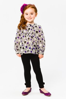 Milly Minis Girls Cotton Long Sleeve Blouses - Pintuck Blouse