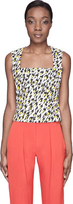 Mugler White Leopard Print Applique Tank Top $845 thestylecure.com