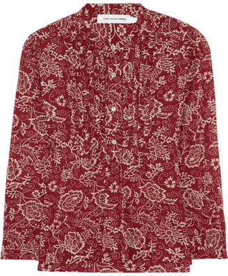 Etoile Isabel Marant Stacey printed cotton-voile blouse
