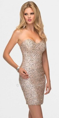 Scala Summer Blue Sequined Prom Dresses