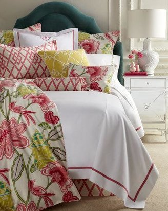Legacy Twin Garden Gate Coverlet with Pink Trim