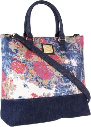 J. Renee Floral Tote (Floral Denim) - Bags and Luggage