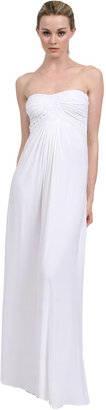 Sky Lesly Strapless Maxi Dress in White