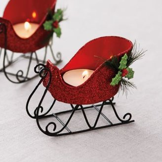 Sur La Table Holiday Sleigh Tealight Candle Holder