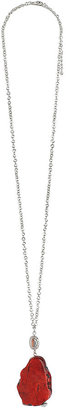 Forever 21 Faux Stone Chain Necklace