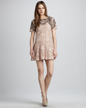 Free People Beautiful Dream Two-Tone Lace Dress