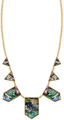 House Of Harlow Abalone Geometric Collar Necklace