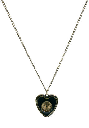 Accessorize Ladies Watch In Heart Face On Chain