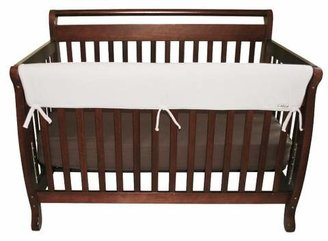 """Trend Lab 51"""" Fleece Front Rail Cover for Convertible Cribs - White"""
