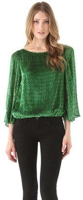 Alice + Olivia Lucia Bell Sleeve Top