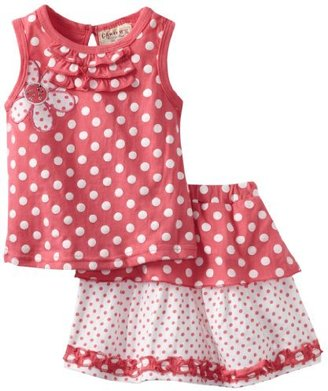 Carter's Watch the Wear Girls 2-6X Flower and Polka Dot Tunic with Skirt Set