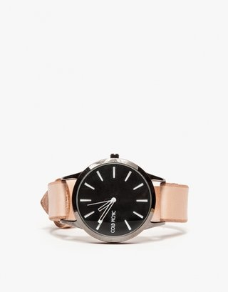 Cold Picnic Colorblock Leather Watch In Natural