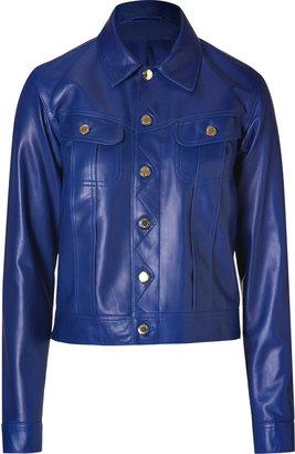 Ralph Lauren Black Label Marine Leather Jacket