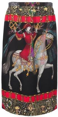 Hermes Vintage print skirt